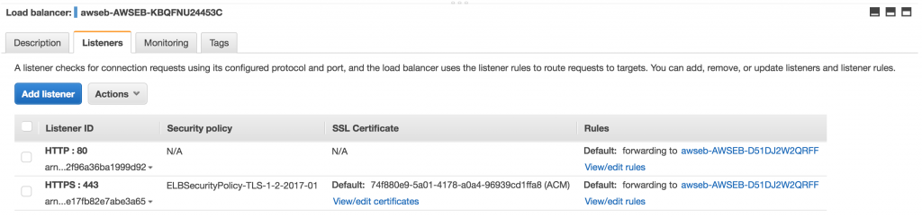 SSL Termination on AWS