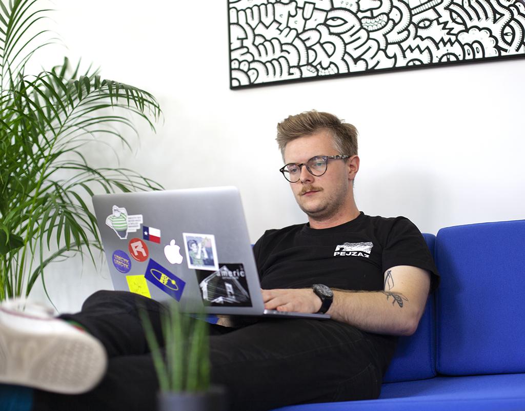 Tobiasz Business Development Specialist Apptension at work
